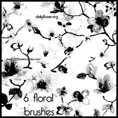 Floral Flowers - https://www.123freebrushes.com/floral-flowers/
