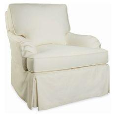 Layla Grayce Oak Knoll Slipcovered Chair