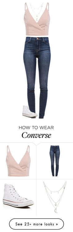 """""""Outfit"""" by dj1direction on Polyvore featuring Charlotte Russe, J Brand and Converse"""