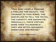 Ernest Hemingway Quotation