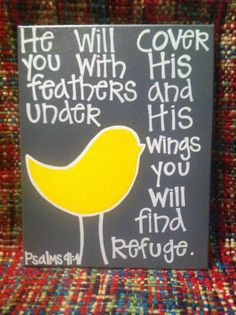 Handmade Bible Verse Canvas Painting. $30.00, via Etsy.