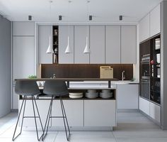 awesome 50 Modern Kitchen Designs That Use Unconventional Geometry
