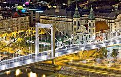 Erzsébet-bridge by night