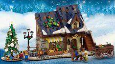 Lego Christmas Sets, Lego Christmas Village, Lego Winter Village, Christmas Villages, Village Lego, Lego Gingerbread House, Lego Castle, Lego Harry Potter, Legoland