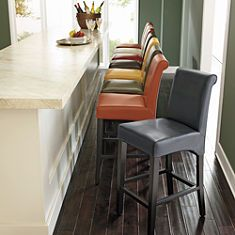 Pick the perfect bar stools to fit your style, dining counter or bar, available in just the right height, back type, swivel and finish. Kitchen Bar, Home, Bar Stools, Furniture, Interior Design, Leather Furniture, Timeless Furniture, Stool, Kitchen Table Settings