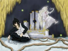 I just realized. Mavis is dead but she represents life. She died young and was frozen in time. But Zeref. All he wants to do is die. He represents death but he himself can't obtain it. They are both super powerful. But they represent things that are opposite to what the actually are. Mavis represents one of the best war tacticians ever yet she is just a little girl.