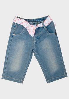 'Chess' Baby Girls Belted Jeans