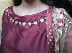 Kurti Neck Designs - The handmade craft Churidhar Neck Designs, Neck Designs For Suits, Neckline Designs, Blouse Neck Designs, Kurti Back Neck Designs, Salwar Suit Neck Designs, Simple Kurta Designs, Stylish Dress Designs, Kurta Designs Women