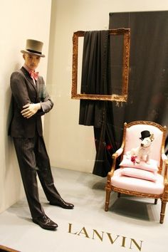 "LANVIN, Milan, Italy, ""Another groom waiting anxiously for his beloved on their wedding day"", pinned by Ton van der Veer"