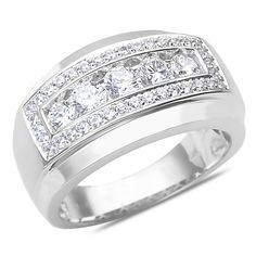 Ebay NissoniJewelry presents - Men's 1 1/4CT Diamond Wedding Band in 14k White Gold with a Cage Back    Model Number:GR9628N-W477    http://www.ebay.com/itm/Men-s-1-1-4CT-Diamond-Wedding-Band-in-14k-White-Gold-with-a-Cage-Back/221630491796
