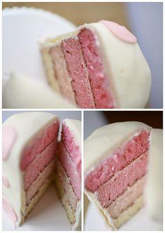 pink layer cake