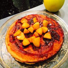 Pancake aux pommes caramélisées. Cantaloupe, Fruit, Food, Homemade, The Fruit, Meals, Yemek, Eten