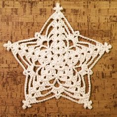 Crochet pattern for Williams star by Crochet Millan. One of several beautiful stars, among other patterns, at this site.A nice little star that you can decorate with, strengthening the star with water and wood glue and you have a nice top star for th Crochet Snowflake Pattern, Crochet Stars, Crochet Motifs, Crochet Snowflakes, Crochet Flower Patterns, Thread Crochet, Crochet Designs, Crochet Doilies, Crochet Stitches
