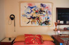 College apartment bedroom.