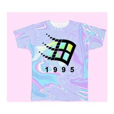 BLACK FRIDAY SALE-HOLOGRAM TUMBLR GRUNGE AESTHETIC 1995 vaporwave ❤ liked on Polyvore featuring tops, t-shirts, over sized t shirt, hologram top, oversized tee, holographic t shirt and holographic top