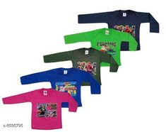 Tshirts & Polos  Elegant Kid's T-Shirts (Pack Of 5) (0-2 Year) Fabric: Cotton Sleeves: Sleeves Are Included Size: Age Group (6 Months - 12 Months) - 14 in Age Group (12 Months - 18 Months) - 16 in Age Group (18 Months - 24 Months) - 18 in Age Group (2 - 3 Years) - 20 in Age Group (3 - 4 Years) - 22 in Age Group (4 - 5 Years) - 24 in Age Group (5 - 6 Years) - 26 in Age Group (6 - 7 Years) - 28 in Age Group (7 - 8 Years) - 30 in Type: Stitched Description: It Has Pack Of 5 Of Kid's T-Shirts Work: Printed Country of Origin: India Sizes Available: 3-6 Months, 6-9 Months, 6-12 Months, 9-12 Months, 12-18 Months, 18-24 Months, 1-2 Years *Proof of Safe Delivery! Click to know on Safety Standards of Delivery Partners- https://ltl.sh/y_nZrAV3  Catalog Rating: ★4 (11486)  Catalog Name: Latest Elegant Kid's T-Shirts (Pack Of 5) Vol 1 CatalogID_420213 C59-SC1173 Code: 092-8595795-
