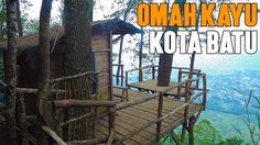 Omah Kayu Batu Malang - penginapan unik dari kayu tepi tebing dengan pemandangan kota Batu yang menakjubkan.