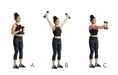 Dumbbell Y to Forward Punch