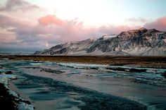 Near the Eldborg Crater in Iceland