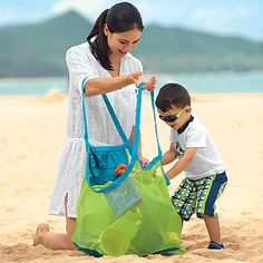Sand-Away beach bag...must have for beach trip with kids...minimizes the amount of sand following you home