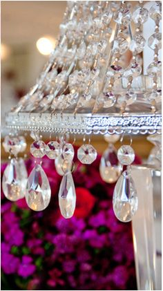 the chandelier on the modern table scape