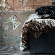 Absolute luxury, exceptional warmth, these plush faux fur throw blankets are stylishly cozy and one of the hottest trends of the season.  Crafted in India of 100-percent acrylic, each blanket is made to mimic beautiful animal furs.