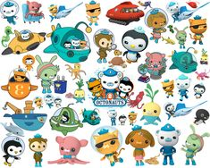 120 Octonauts Clipart And Silhouette Octonauts Clipart Octonauts Silhouette Octonauts Digital Octonauts Stickers Octonauts Printable Octonauts Party, Baby Bash, Under The Sea Party, Ocean Themes, Silhouette Cameo Projects, Third Birthday, Cool Kids, Baby Animals, Clip Art