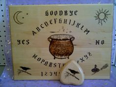 This is one of my favorites on Wiccan Supplies, Witchcraft Supplies & Pagan Supplies Experts-Eclectic Artisans: Witches Cauldron Spirit Board