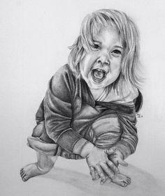 Graphite drawing portrait little girl   • mariellevanleeuwen@live.nl • AR•T•INT • www.facebook.com/artintx • instagram @artint