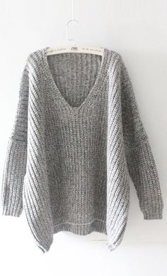 Easy Does It Plunging Oversized Sweater