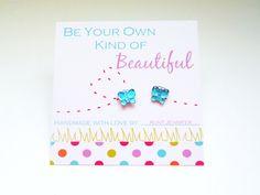 Girl's Printable Earring Card with Handmade Earrings