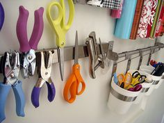Magnetic storage of office supplies.