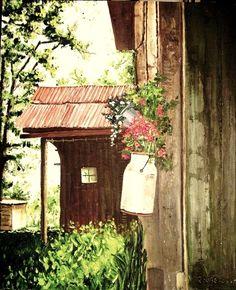 pinto mis propias fotografìas....... alguna casa de campo... de por ahì..... òleo sobre tela