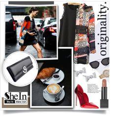 Colourblock Autumn...SheIn by melissa-de-souza on Polyvore featuring moda, Roberto Cavalli, Kobelli, Michael Kors, CÉLINE, Burberry, Sheinside and polyvoreeditorial