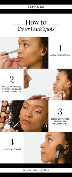 Learn how to cover dark spots. Want more details? Click the image to watch a full tutorial on our YouTube channel. #Sephora