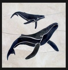 humpback mom and calf artwork - Google Search