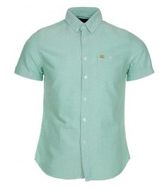 Ultra Magnetic Far Chambray Shirt Green, NOW £6