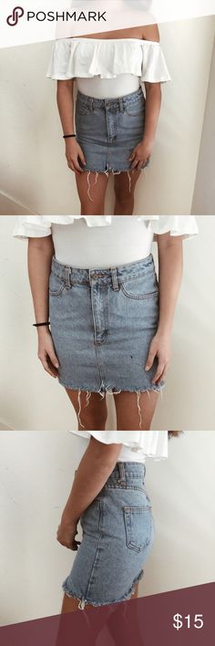 BRANDY MELVILLE denim skirt One size. Thick denim material. Brandy Melville Skirts Mini