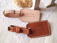 Personalized leather luggage tags | The Travel Files
