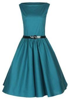 Lindy Bop Classy Vintage Audrey Hepburn Style 1950's Rockabilly Swing Evening Dress,