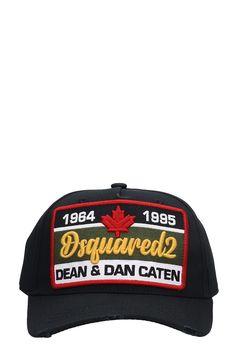 dca31366af8 DSQUARED2 BLACK COTTON HAT.  dsquared2