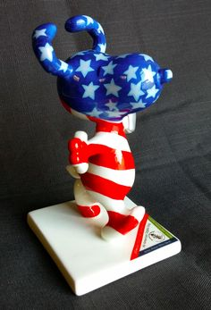 All American Snoopy Peanuts On Parade Figurine Porcelain No. 8389 #Snoopy