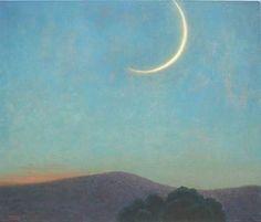 Grandfather Mountain, New Moon. John Beerman. North Carolina series.
