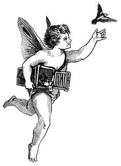 Vintage Angel Clip Art Free | Click on image to download
