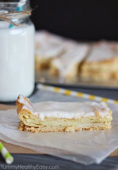 Swedish Pastry | delicious flaky crust topped with a moist layer of almond pastry, bake it and then spread with a quick almond frosting. It's a family favorite and a family tradition!