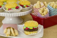 The perfect way to end a summer barbecue on a sweet note? Dessert Burgers and Fries.