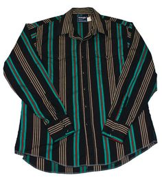 Vintage 90s Wrangler Pearl Snap Button Up Shirt Made in USA Mens Size 17 1/2-36 (XL)