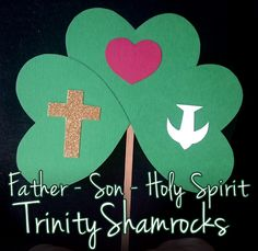 As St. Patrick is most famous for his teaching about the Trinity using a shamrock, this St. Patrick's Day Craft is most appropriate to keep the message fresh. It is a very easy craft requiring basic supply-closet materials. Children's Day Craft, St Patrick's Day Crafts, Bible Crafts For Kids, Preschool Crafts, Craft Ideas, Preschool Bible, Preschool Activities, Easy Crafts, Catholic Crafts