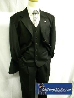 1647ad52dde Stacy Adams Signature Sun Vested Black Fashion Suit 4016-100 Stacy Adams  Suits