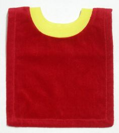 Great Bib Base for DIY Baby Bibs!! Red Yellow Terry Velour Pullover Bib  Great for by BsFabricShack 4f72e4fd94
